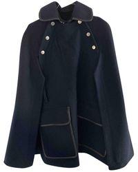 Victoria Beckham Wool Coat - Blue
