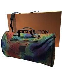 Louis Vuitton Sac Keepall en Toile Multicolore