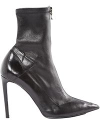 Roland Mouret - Pre-owned Black Leather Ankle Boots - Lyst