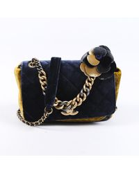 Chanel Velvet Crossbody Bag - Blue