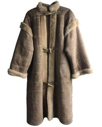 Dior Shearling Coat - Natural