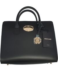 Roberto Cavalli Leather Crossbody Bag - Black
