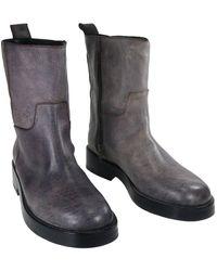 Ann Demeulemeester - Grey Leather - Lyst