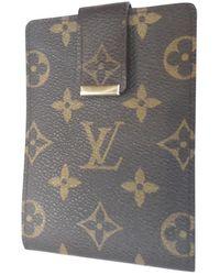Louis Vuitton Petite maroquinerie en Toile Marron - Gris