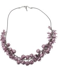 Burberry - Pre-owned Purple Metal Necklaces - Lyst