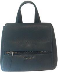 Givenchy Pandora Navy Leather Handbag - Blue