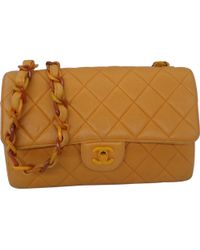 a5695622d006 Chanel - Timeless/classique Camel Leather Handbag - Lyst