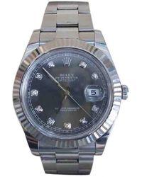Rolex Orologio in acciaio grigio DateJust II 41mm
