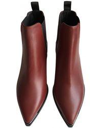 Acne Studios Jensen / Jenny Leather Ankle Boots - Multicolour
