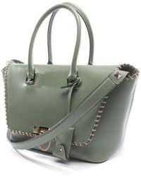 Valentino Demilune Green Leather Handbag