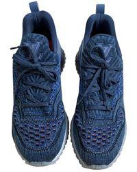 Louis Vuitton Run Away Cloth Low Trainers - Blue