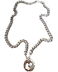 Givenchy Gold Metal Necklaces - Multicolor