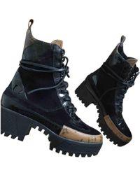 3b3ad77ecc71 Louis Vuitton - Laureate Leather Lace Up Boots - Lyst