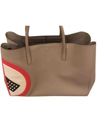 Anya Hindmarch Ebury Maxi Leather Tote - Gray