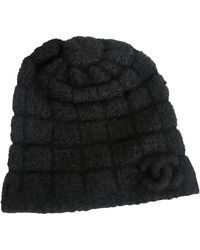 Chanel Sombrero en cachemira negro