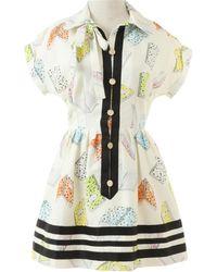 Olympia Le-Tan Mini Kleid - Weiß