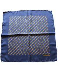 Hermès Cravates \N en Soie Bleu