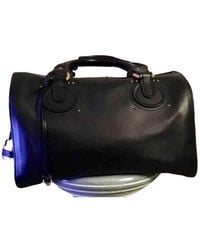 Chloé Aurore Leather Travel Bag - Black