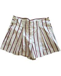Étoile Isabel Marant Shorts en Coton Beige - Neutre