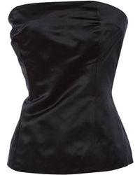 Céline Pre-owned Silk Corset - Black