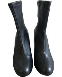 Opening Ceremony - Black Leather Ankle Boot - Lyst