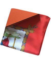 Hermès Carré Géant silk 140 Seide Halstuch - Rot