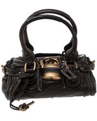 Chloé - Paddington Brown Leather Handbag - Lyst db716d0e0