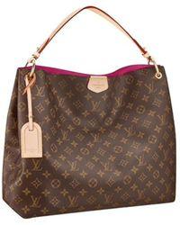 Louis Vuitton Graceful Leder Handtaschen - Braun