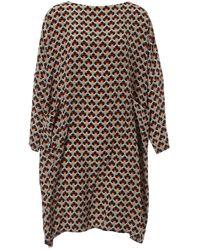 Marni Silk Mid-length Dress - Grey