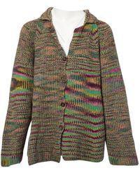 nuovo prodotto 692d6 2b086 Maglioni. Gilet in lana multicolore - Verde