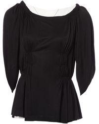 Dior Black Viscose Top