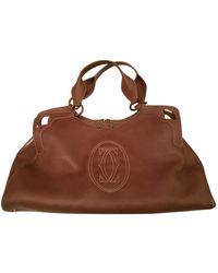 Cartier Marcello Leather Handbag - Brown