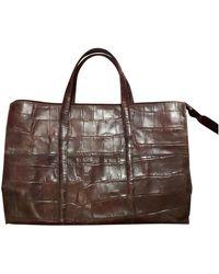 Sergio Rossi Brown Leather Handbag - Multicolour