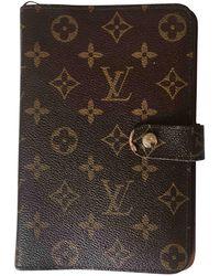 Louis Vuitton - Camel Leather Home Decor - Lyst