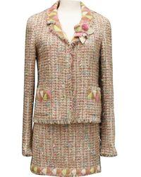 Chanel Vest en Tweed Multicolore - Noir