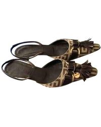 Givenchy Cloth Heels - Brown