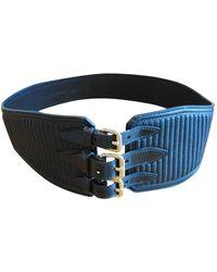 Burberry Cinturón en cuero negro