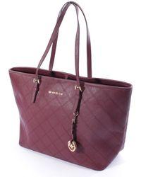Michael Kors - Jet Set Burgundy Cloth Handbag - Lyst