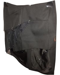 Anthony Vaccarello Black Viscose Skirt