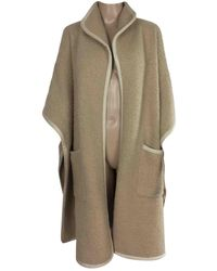 Burberry Wool Poncho - Natural