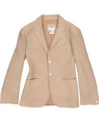 Chanel - Vintage Beige Wool Jacket - Lyst