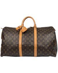 66de9f5a6ba Supreme Louis Vuitton X Keepall Bandouliere 45 Camo for Men - Lyst