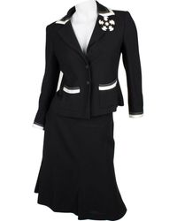 Chanel Black Viscose Skirt