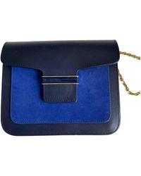 Vanessa Seward Leather Handbag - Blue