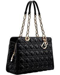 Dior Soft Shopping Black Leather Handbag