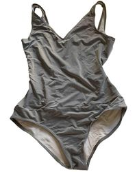 Chanel Vintage Grey Synthetic Swimwear