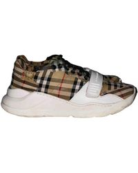 Burberry Cloth Low Trainers - White