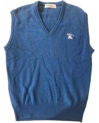 Burberry Wool Vest - Blue