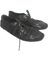 Dior Leder Sneakers - Schwarz