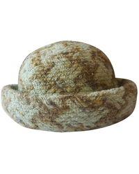 Chanel Sombrero en lana verde